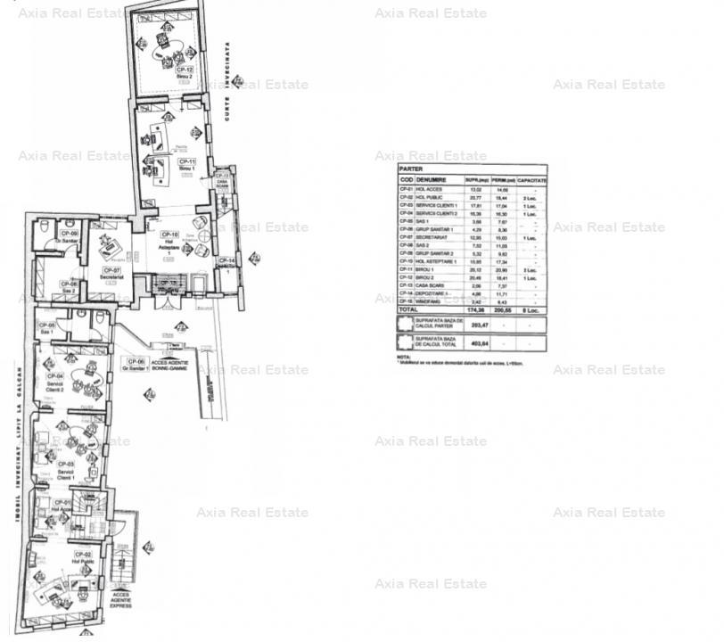 Vila pentru birouri cu locuri de parcare - zona Dacia