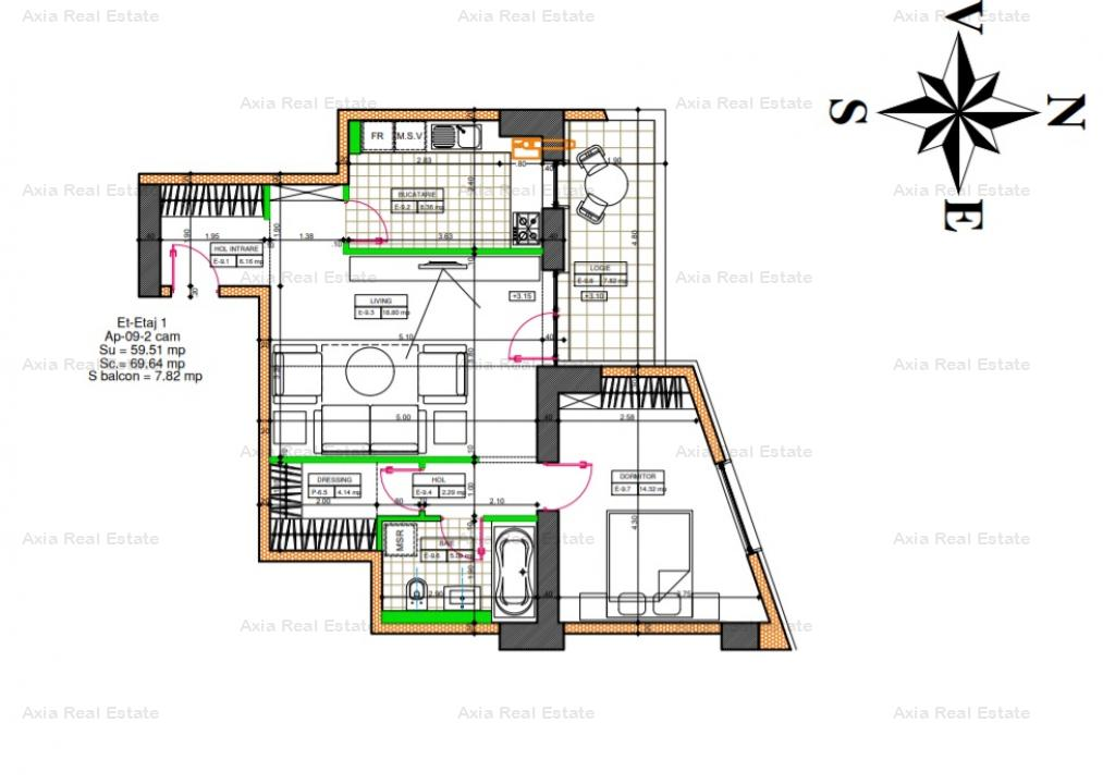 Apartament 2 camere   Baneasa    Comision 0%