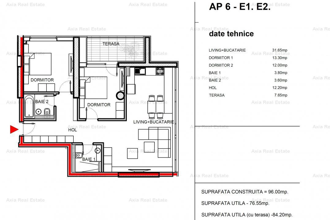 Apartament 3 camere Polona/Eminescu - BLOC NOU