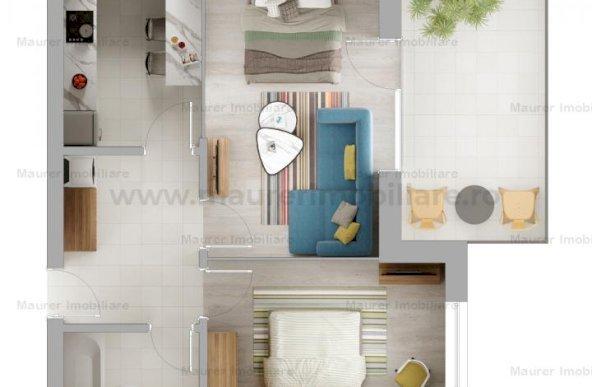 Apartament 2 camere de vanzare in bloc nou, Avantgarden3