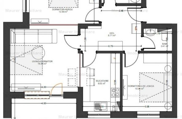 Apartament 3 camere de vanzare in bloc nou, Avantgarden3