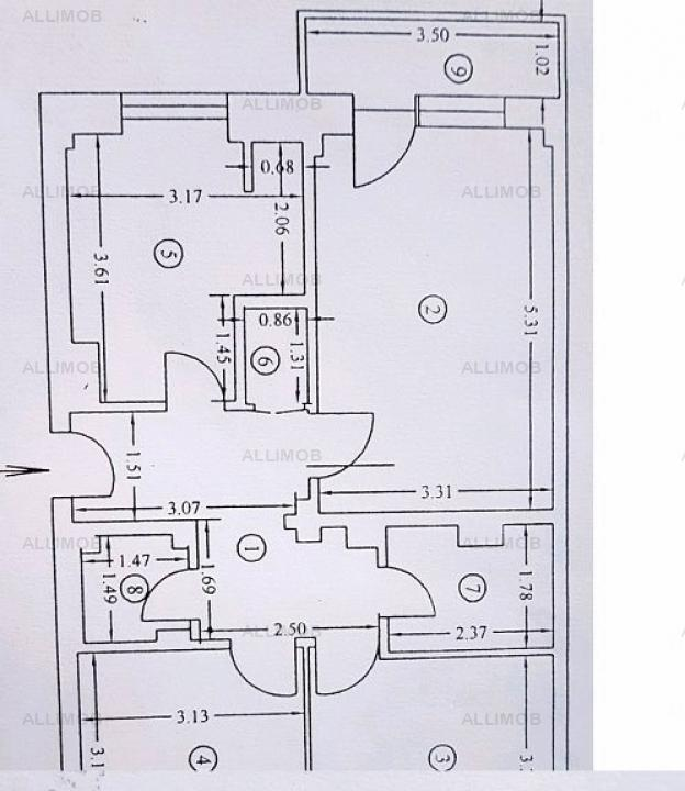 Apartament 3 camere, 2 balcoane, zona Cantacuzino, Ploiesti