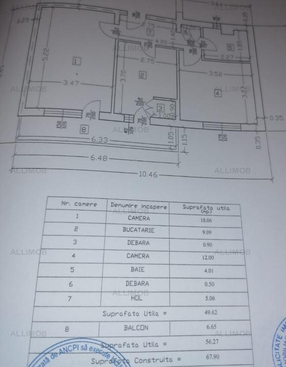 Apartament 2 camere, cf1, CT, zona Bd Buc, Ploiesti