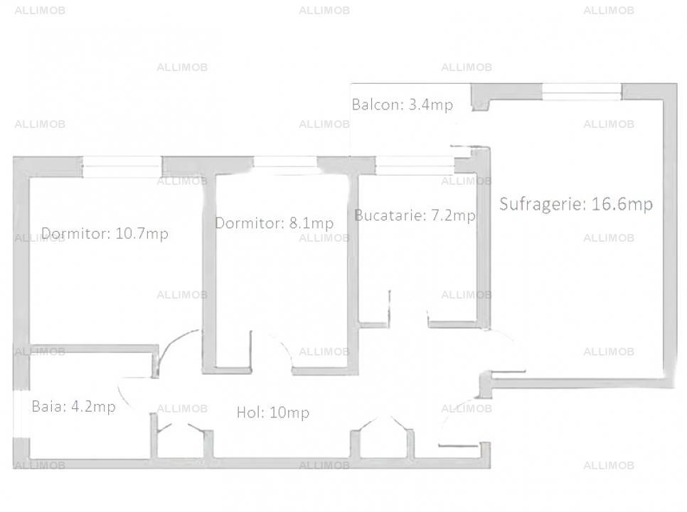 Apartament 3 camere, CT, AC, zona Cantacuzino, Ploiesti