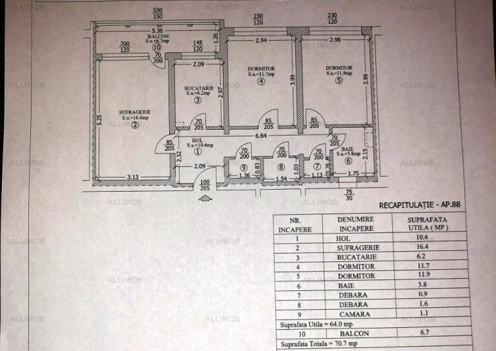 Apartament 3 camere, zona Vest, Ploiesti