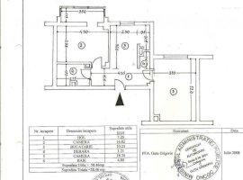 Apartament 2 camere, SU 58.5 mp, CT, zona Cantacuzino, Ploiesti