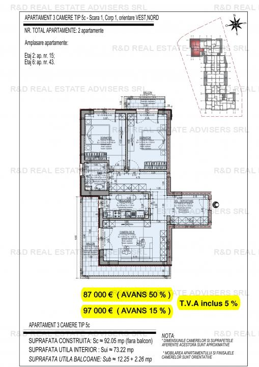 Apartament 3 Camere-NOU-Direct Dezvoltator-Comisin 0!