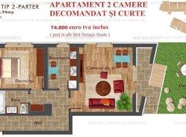 Apartament 2 camere decomandat Pacii/Metrou + curte 27 mp | Parcare inclus!!
