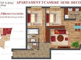 Apartament 3 camere Pacii/Metrou