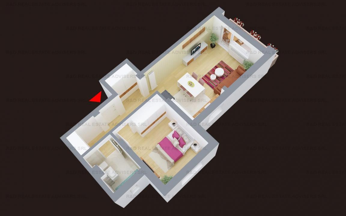 Apartament Decomandat Bloc Nou Finalizat cu Toate Utilitatile Incluse
