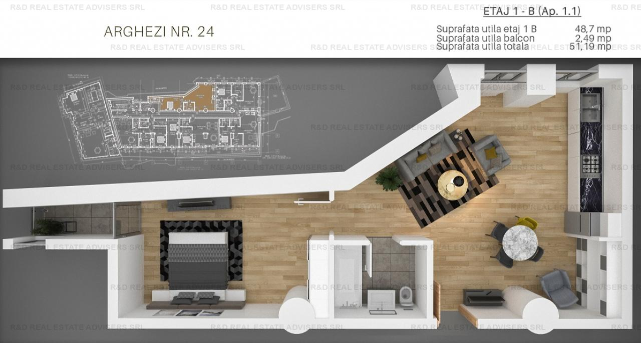 Arghezi Residence /2 Camere/Ideal Investitie