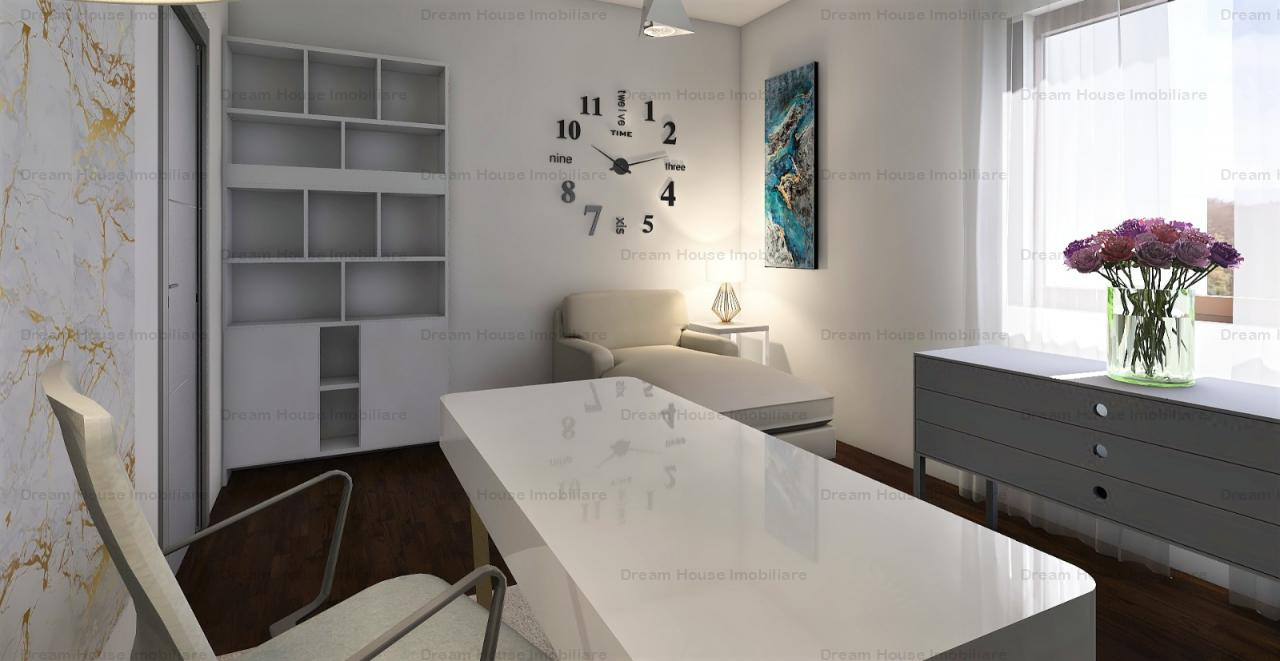Apartament cu 3 camere+curte de 130 mp