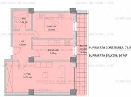 Complex E3 PLUS, 2 camere, Etaj 1, decomandat, COMISION 0