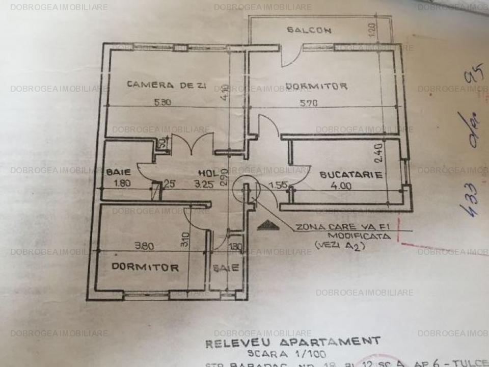 Babadag BCR, 3 cam, spatios, et. 2, gaze la usa, 2 bai, balcon