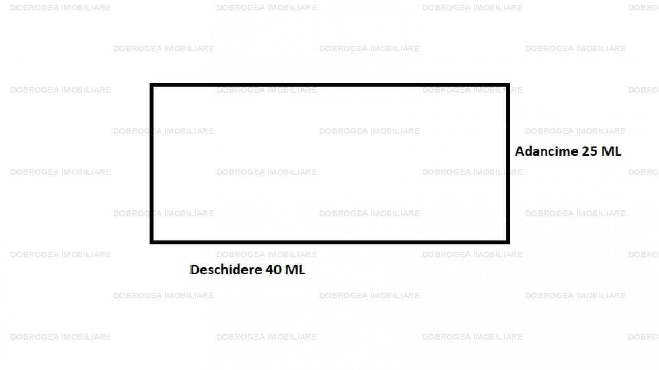 Teren intravilan, 1000 MP, 40 ML Deschidere, zona Peco