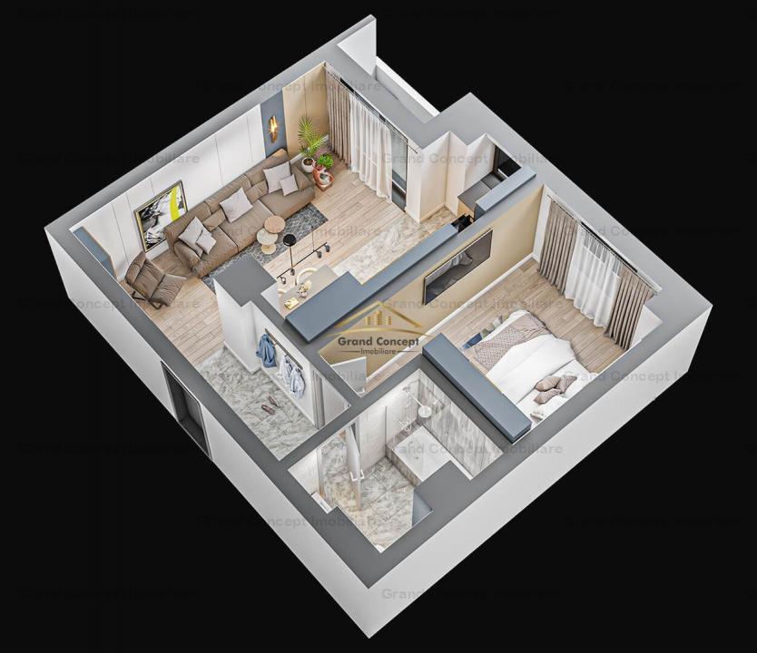 Apartament 2 camere, Tatarasi, 46.93mp 0743339630 cod 17160