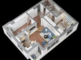 Apartament 3 camere, Tatarasi, 64.49mp