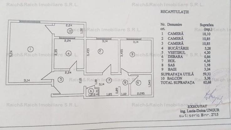 Apartament 3 camere decomandat 1 minut de metrou NICOLAE GRIGORESCU
