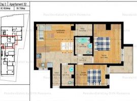 Vanzare  apartament  cu 3 camere  semidecomandat Bucuresti, Foisorul de Foc  - 116500 EURO
