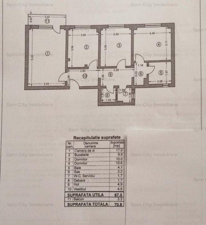 Apartament 3 camere decomandat Lujerului/Veteranilor,etaj tehnic deasupra