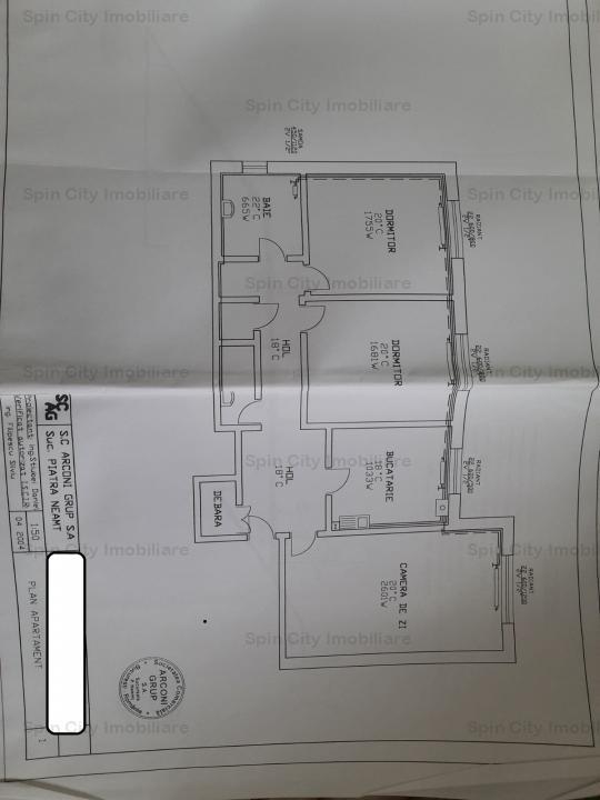 Apartament 3 camere decomandat, 2 bai,CENTRALA proprie, Iancului-Sos.Pantelimon,plan B