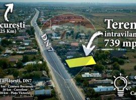 Teren cu deschidere la DN 7 si toate utilitatile (35 min de Bucuresti)