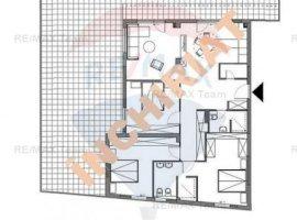 Apartament 4 camere, terasa 112 mp in zona Damaroaia