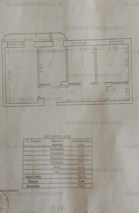 Apartament 3 camere, Pacurari, etaj 1, spatios