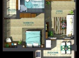 Apartament 2 camere, bloc nou 2019, BAZA 3