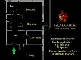 GARA LA BULEVARD! 3 camere, 2 bai, decomandat