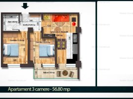 Apartament 3cam  Bragadiru 57mp bloc nou 42000 euro Rate Dezvoltator