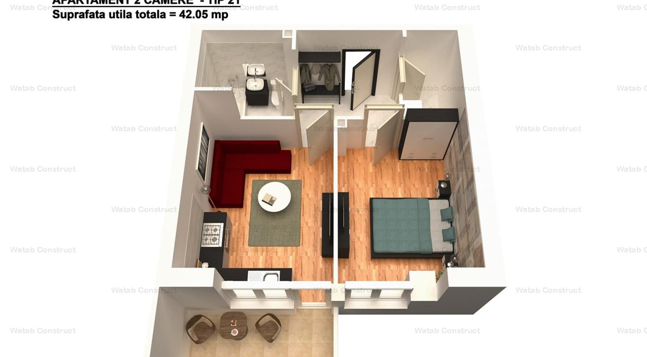 Apartament 2cam  Bragadiru 40mp bloc nou 34000 euro