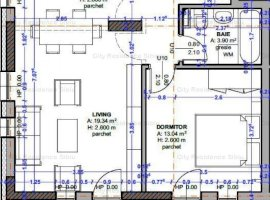 Apartament 2 camere | Model Tip 10 | 49.53 mp + balcon | 12 A