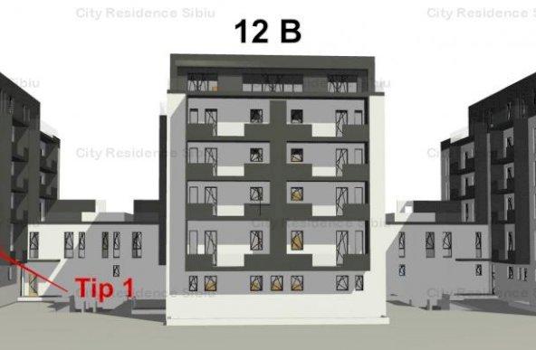 Apartament 1 camera | Model Tip 1 | 37.21 mp | 12 C