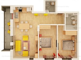 Apartament 3 camere | 63 mp | 2 bai | 2020