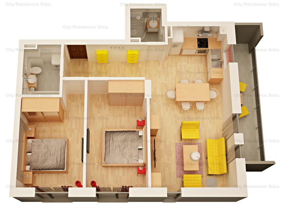 Apartament 3 camere   Tip 6   Imobil 12 A   2020