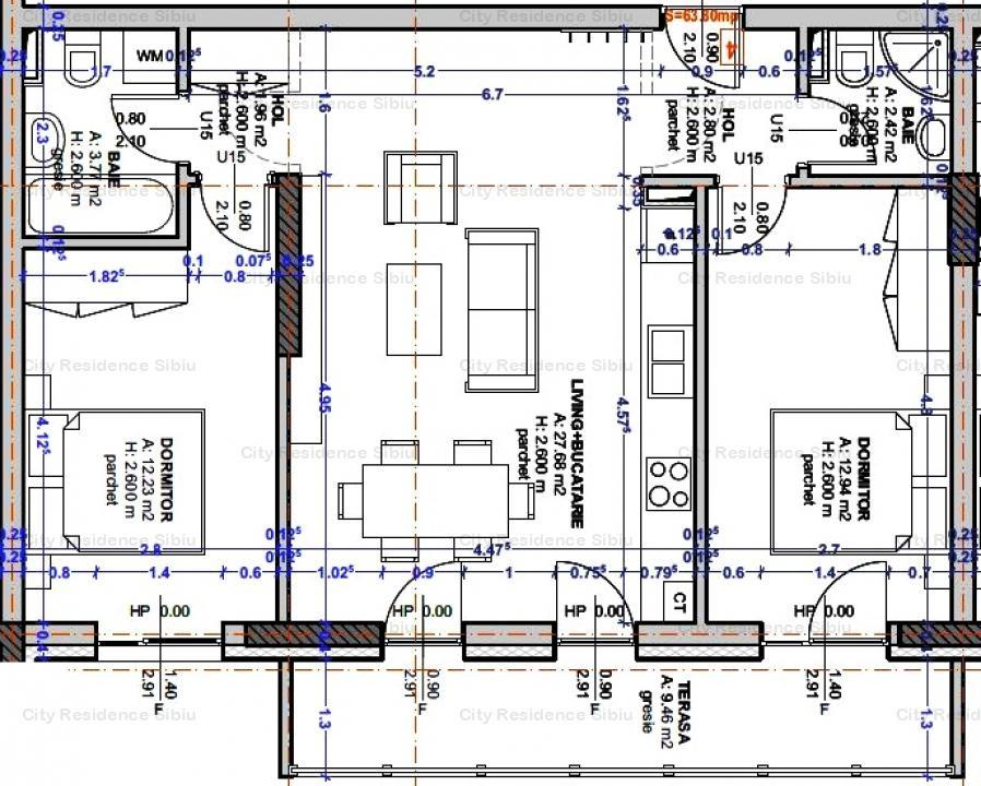 Apartament 3 camere | Central | Imobil 12 B