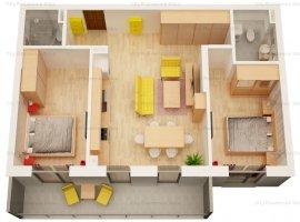 Apartament 3 camere   Etaj 1   63 mp   Balcon 9 mp