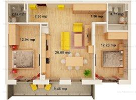 Apartament 3 camere | Etaj 1 | 63 mp | Balcon 9 mp