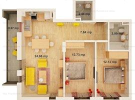 Apartament 3 camere | Imobil 12 B | 63 mp