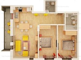 Apartament 3 camere   Tip 6   2 bai   63 mp