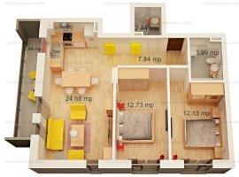 Apartament 3 camere | Tip 6 | 2 bai | 63 mp