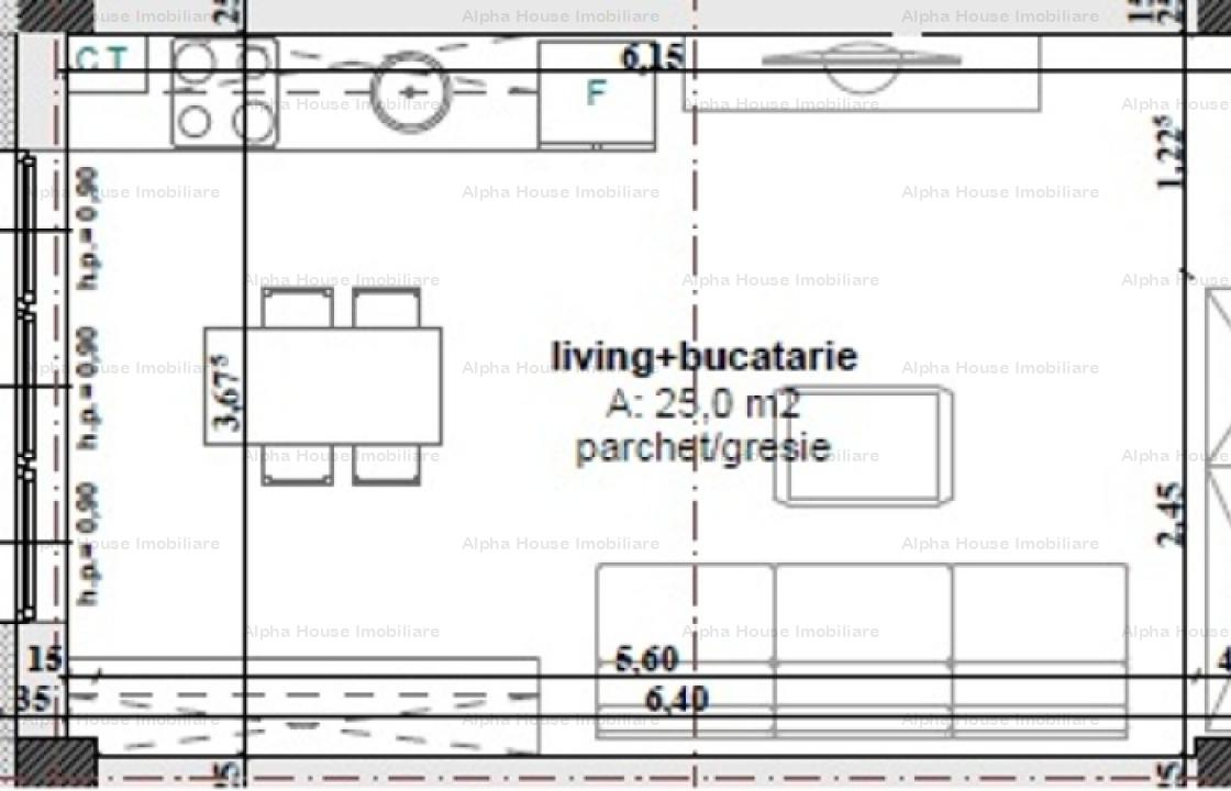 Garsoniera etaj 3 zona Calea Cisnadiei