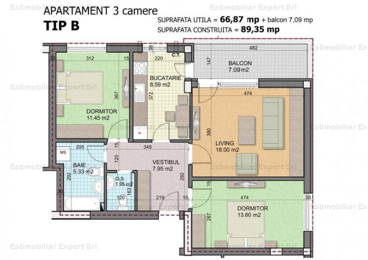 Apartament 3 camere Titan- 1 Decembrie 1918, sec. 3