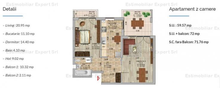 Apartament 2 camere Theodor Pallady-Metrou Nicolae Teclu Sector 3
