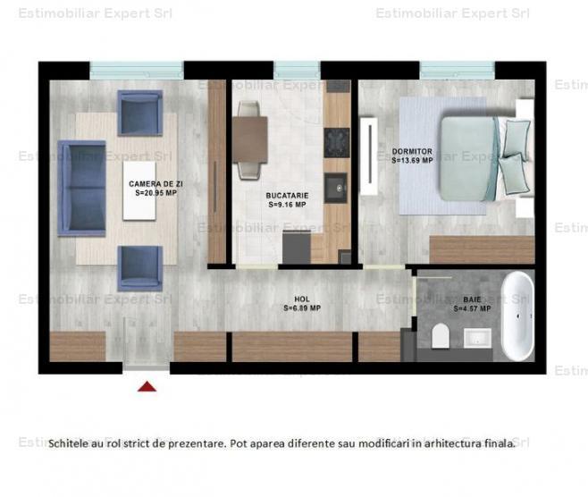 Apartament 2 camere- curte 70 mp - Titan - Metrou 1 Decembrie 1918