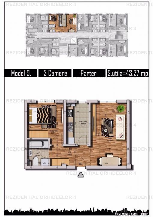 Apartament 2 camere, parter, bloc nou, Chiajna