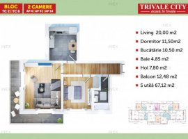 Apartament 2 camere in Trivale City | TC6 2C9