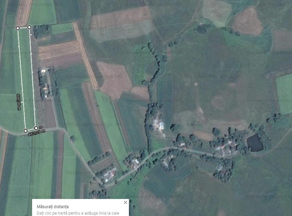 Teren de vanzare (licitatie) 3900 mp sat Cumparatura, judet Suceava