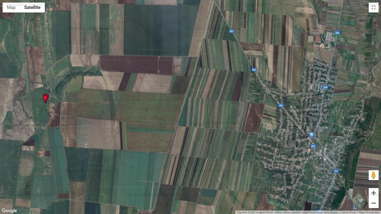 Teren suprafata 641 mp situat in PECHEA, Galati